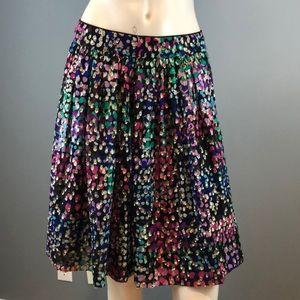 NWOT Kate Spade NY Chiffon Polka Dot Skirt Size 6